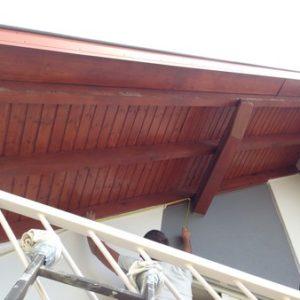 Dessous de toit AVANT travaux