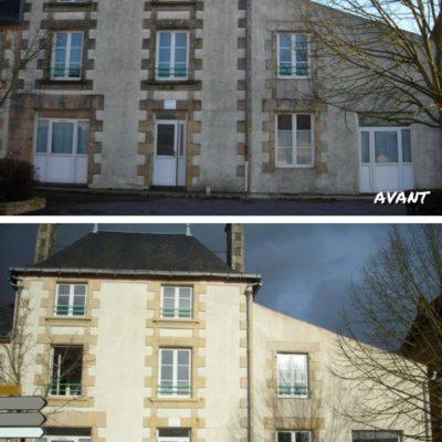 Traitement anti-mousse façade_ AVANT APRES traitement